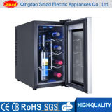 House Use Glass Door Wine Cooler with Cellars
