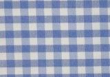 Skyblue/White Checks Twill CVC Yarn Dyed Fabric Shirting