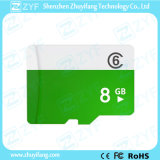 White and Green 8GB Class 6 Micro SD Memory Card (ZYF6026)