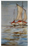 Hot Sale Canvas Wall Art Sail Boat Painting for Living Room Decoration (LH-044000)