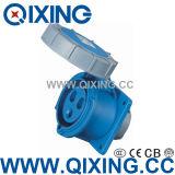 Waterproof Flush Panel Mounted Socket (QX-218)