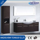 Simple Design Wall Melamine Hotel Bathroom Vanity with Side Cabinet