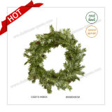 17 Inch 100% PE Holiday Decoration Christmas Wreath Christmas Gift