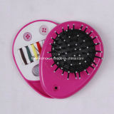 Plastic Hair Brush with Travel Sewing Kit