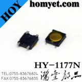 3.3*3.3*0.8mm 4pin Round Thin Tact Switch/Tactaile Switch with Registration Mast (HY-1177N)