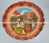 Souvenir Plate with Souvenir Plaque Picture