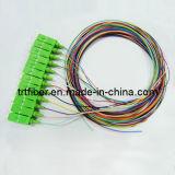 SC/APC SM 12 Colors Fiber Optic Pigtail (12 fiber pigtail)