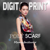 Colorful Ladies′ Poly Satin Scarf (JC-311)