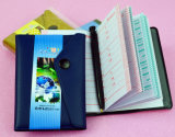 Promotional Soft PVC Leather Telephone Books with Buckle