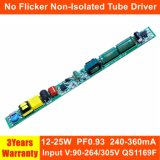 12-25W Hpf No Flicker Non-Isolated LED Tube Driver with EMC QS1169f