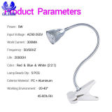 10W LED Grow Light 360° Adjustable Gooseneck LED Desk Lamp
