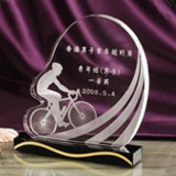 Fashion Custom Engraving Basic Blank Glass Cubes Awards Crystal Trophy