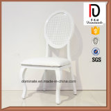 Reticulate Style Aluminum White Round Back Indoor Banquet Chair
