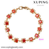 73777 Xuping Crystal Beads Bracelet, Generous Style Jewelry 18K Gold Plated Brass Bracelet