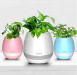 Wireless Mini Bluetooth Speaker New Design Smart Touch Real Grow Plants Music Flowerpot