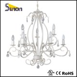 Contemporary Milky White Crystal Chandelier