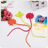Plastic TPE Flower-Shaped Food Bag Clip Ties (27.5*0.5*4.5cm)