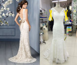 Spanish Designer Sweep Train Wedding Dress
