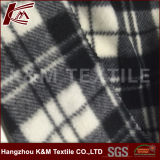 Super Soft Anti-Pilling Micro Polar Fleece Fabric with 2 Sides Brush in Grey Checks Design
