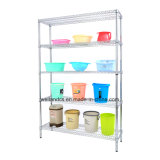 Good Price 5 Tiers Chrome Plated Double-Sided Shop Metal Wire Display Rack