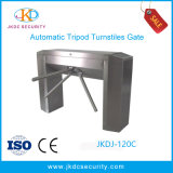 Waist High Tripod Turnstile with Three Stainless Rollers