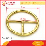 Round Shape Metal Buckle with Single Pin