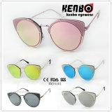 Round Frame with Eyecat Design Fashion Metal Sunglasses Km16161 Muti Colour Choice