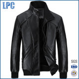 Mens Jacket Short Paragraph Collar Plus Velvet Leather Jacket
