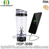 2017 Newly 600ml Plastic USB Vortex Shaker Bottle, Plastic Electric Shaker Bottle (HDP-3089)