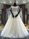 Lace Bridal Gowns Short Sleeves Beading Wedding Dresses Z613