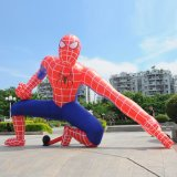 Tarpaulin Polyester Inflatable Spiderman Display for Sales or Promotion
