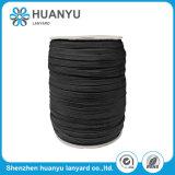 Customized Black Polyester Tubular Flat Strap