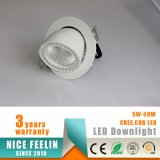 45W Gimbal/ Rotable Trunk Shape LED Shop Downlight/ Interior Lamp