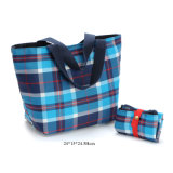 Portable Women′s 420d Polyester Oxford Foldable Small Tote Shopper Lunch Bag
