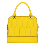 Yellow Stylish Fashion Leather Price Handbags (MBNO033063)