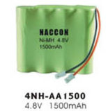 Naccon Ni-Mh Rechargeable Battery Pack (4NH-AA1500)