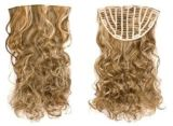 Wholesale Kanekalon Synthetic Hair Wig Extenson Clip in Volumizer Hair Piece Heat Resistance