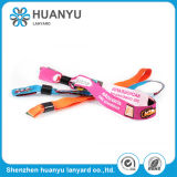 Promotional Woven Thin Fabric Elastic Wristband