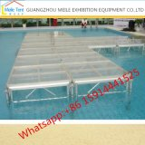 Fashion Tempered Glass T Shaped Stage Portable DJ Platform