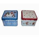 Christmas Cylindrical Candy Tin/Metal Box/Gift