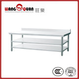 Stainless Steel Work Bench 3 Tier with Splashback for Restaurant