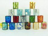 Mosaic Glass Tealight Candle Holder