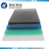 4 Colors Frosted Polycarbonate Hollow Sheet with UV Protection