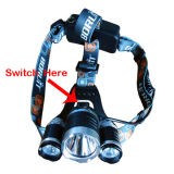 1000lumen CREE T6 and 2XPE Super High Power Headlamp with Back Pack for 3AAA or 2X18650 Battery