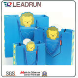 Paper Shopping Gift Present Promotional Coated Art Paper Carrier Carton Picture Packing Bag for Kids/Child (d15)