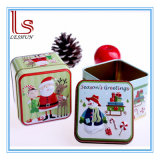Santa Claus, Snowman Tin Boxes Candy Box of Christmas Decorations