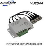 4 Channel BNC to RJ45 /Cat-5 Video Transceiver Balun (VB204A)