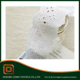 White Beautiful Clothing Decoration Material Cotton Lace