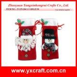 Christmas Decoration (ZY15Y104-1-2) Christmas Santa Wine Bag