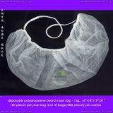 Disposable Polypropylene Nonwoven Beard Shell with Double Elastic Ear-Loops
